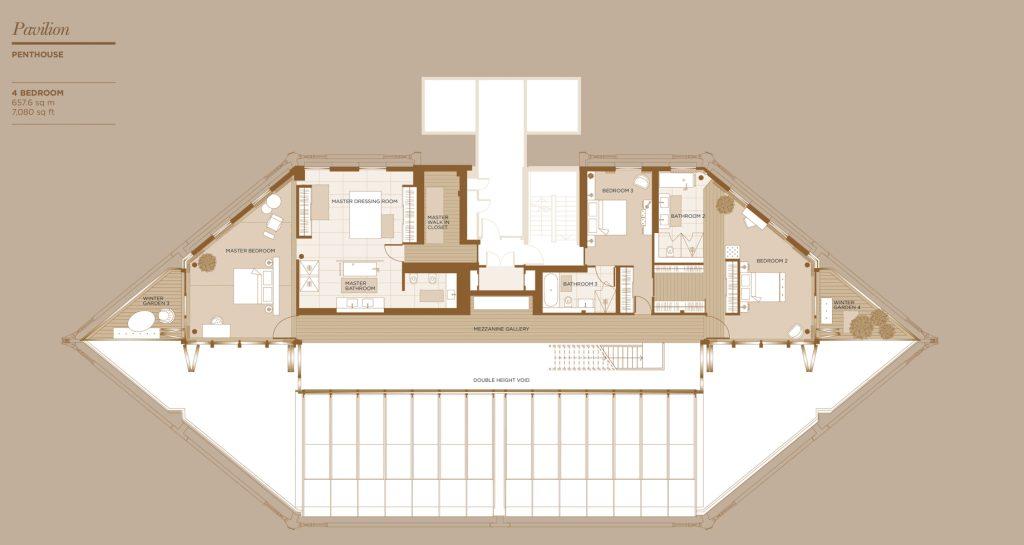 Floor Plans - Neo Bankside Luxury Penthouse - London, England, UK