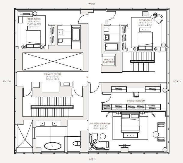 Floor Plans – Rupert Murdoch One Madison Penthouse – New York, NY, USA
