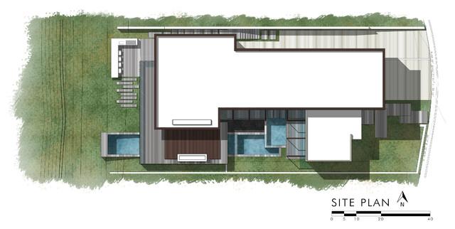 Site Plan - Caya Seaman Luxury Residence - 43 Beach View Ave, Dana Point, CA, USA