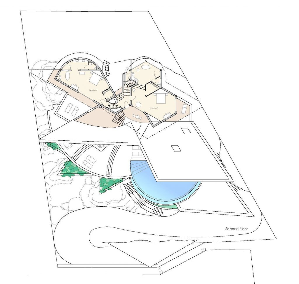 Second Floor Plan - Rockstar Villa - Cala Marmacen, Port d'Andratx, Mallorca, Balearic Islands, Spain