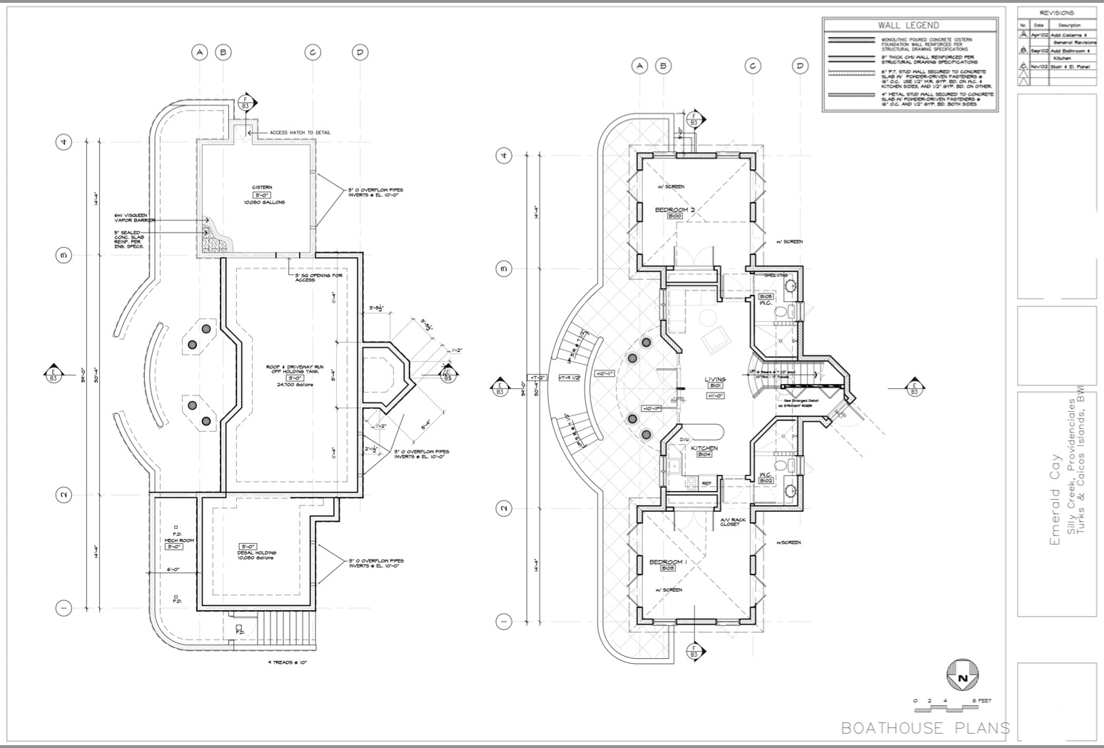 Boathouse Floor Plans - Emerald Cay Estate - Providenciales, Turks and Caicos Islands