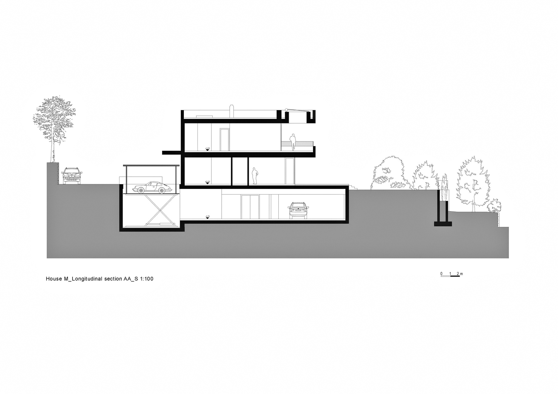 Section AA - House M Luxury Residence - Merano, South Tyrol, Italy