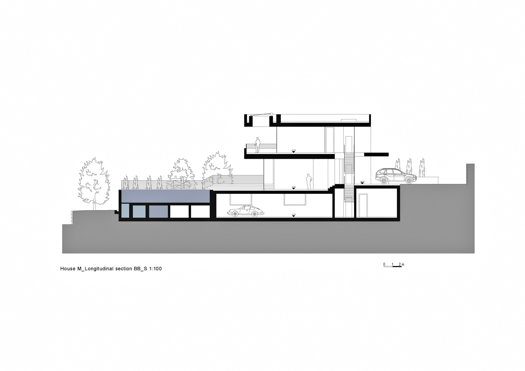 Section BB – House M Luxury Residence – Merano, South Tyrol, Italy