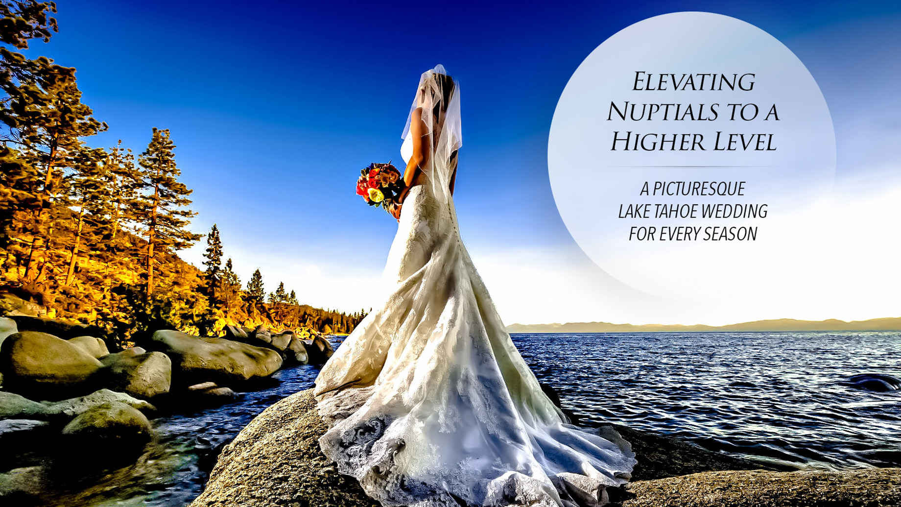 Elevating Nuptials to a Higher Level - A Picturesque Lake Tahoe Wedding for Every Season