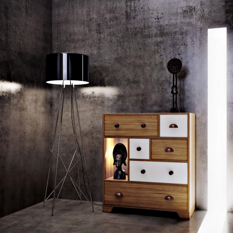 Living Room - Ex Machina Film Inspires Architecture for a Writer's Modern Concrete Home Design