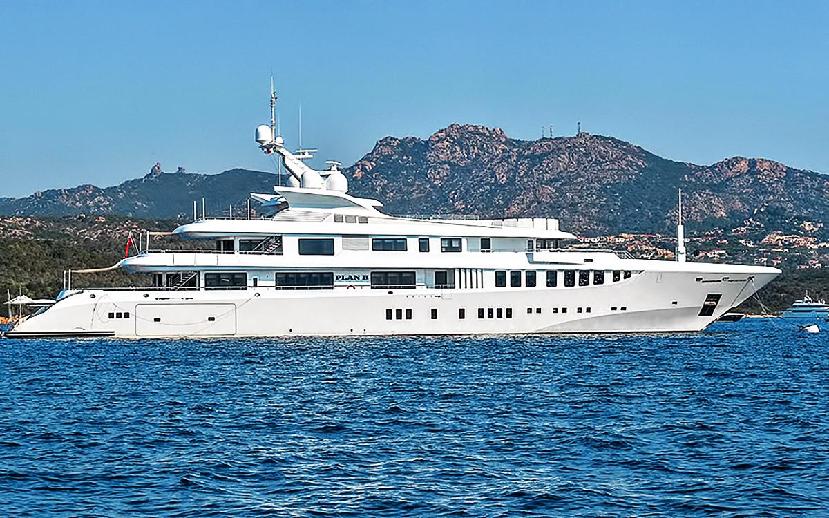 Superyacht in Porto Cervo, Sardinia, Italy