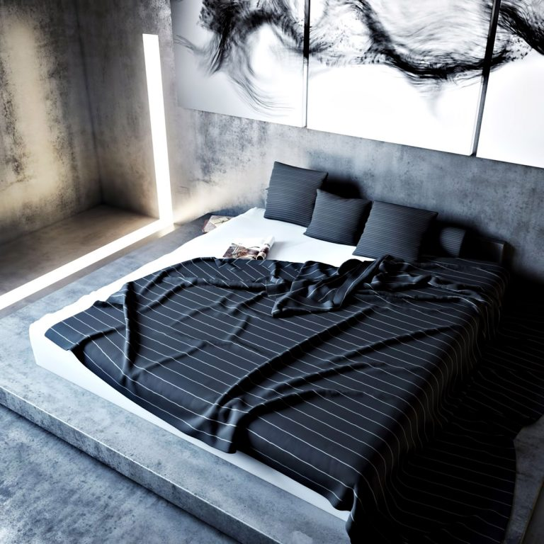 Bedroom - Ex Machina Film Inspires Architecture for a Writer's Modern Concrete Home Design