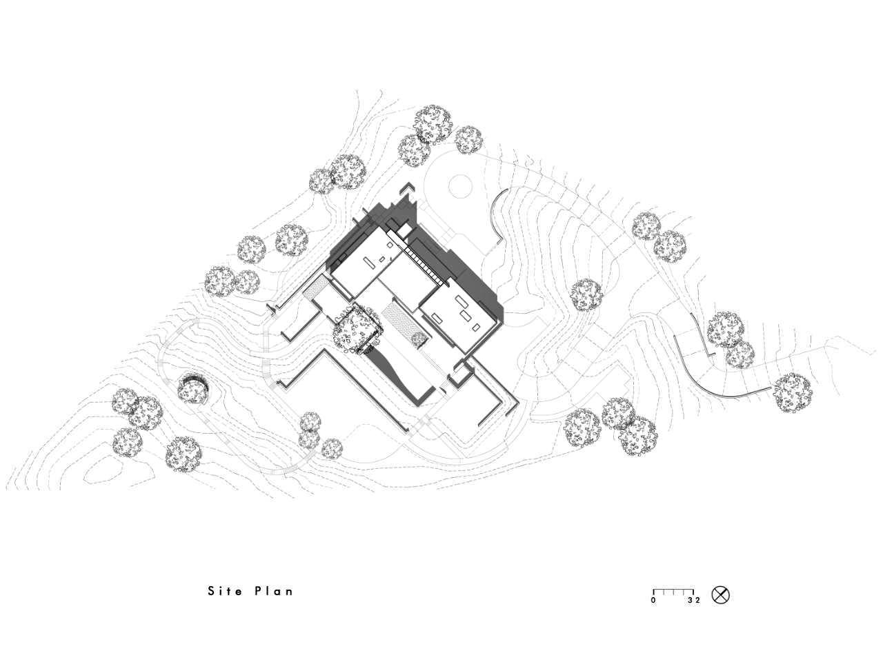 Site Plan – Modern Luxury OZ Residence – 92 Sutherland Drive, Atherton, CA, USA