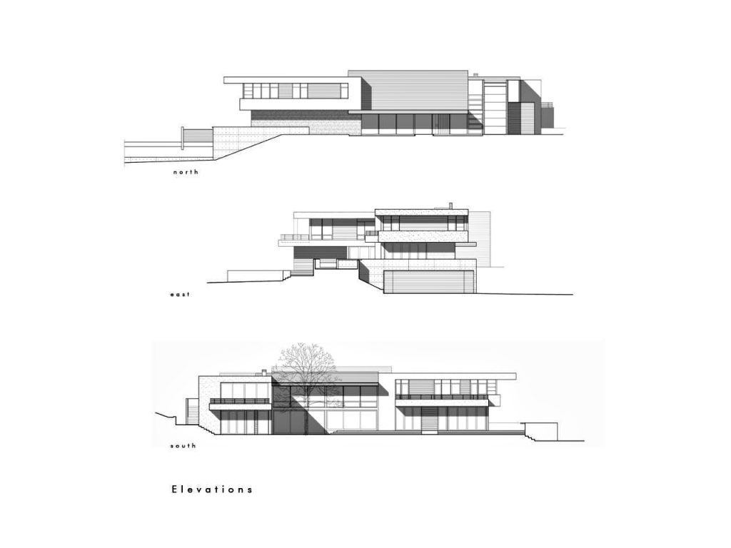 Elevations - Modern Luxury OZ Residence - 92 Sutherland Drive, Atherton, CA, USA