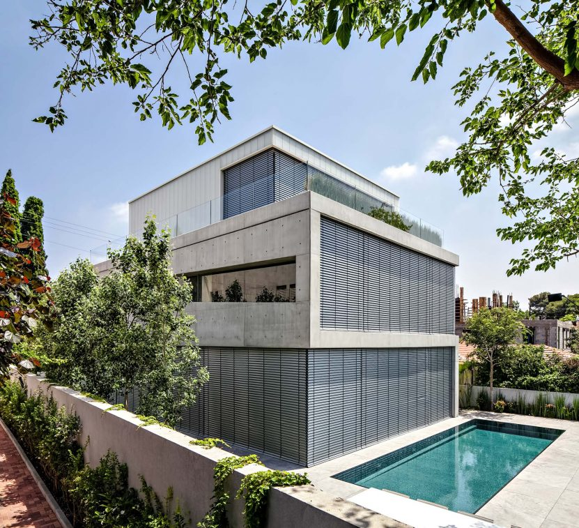 08 - Concrete Cut Luxury Residence - Ramat Gan, Tel Aviv, Israel
