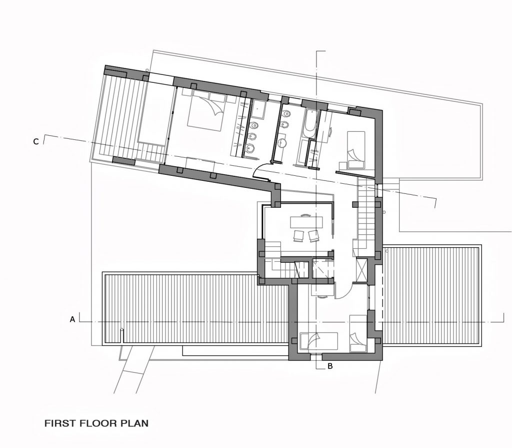 First Floor Plan - Villa Di Gioia Luxury Residence - Bisceglie, Apulia, Italy