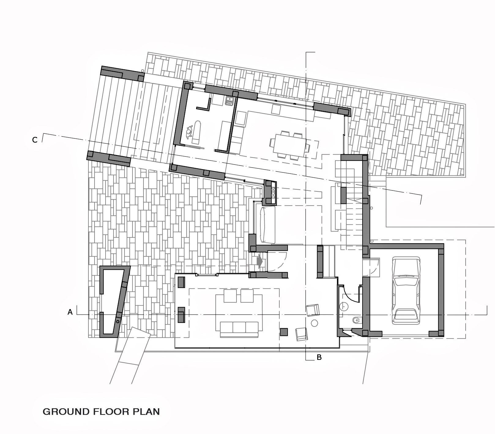 Ground Floor Plan - Villa Di Gioia Luxury Residence - Bisceglie, Apulia, Italy