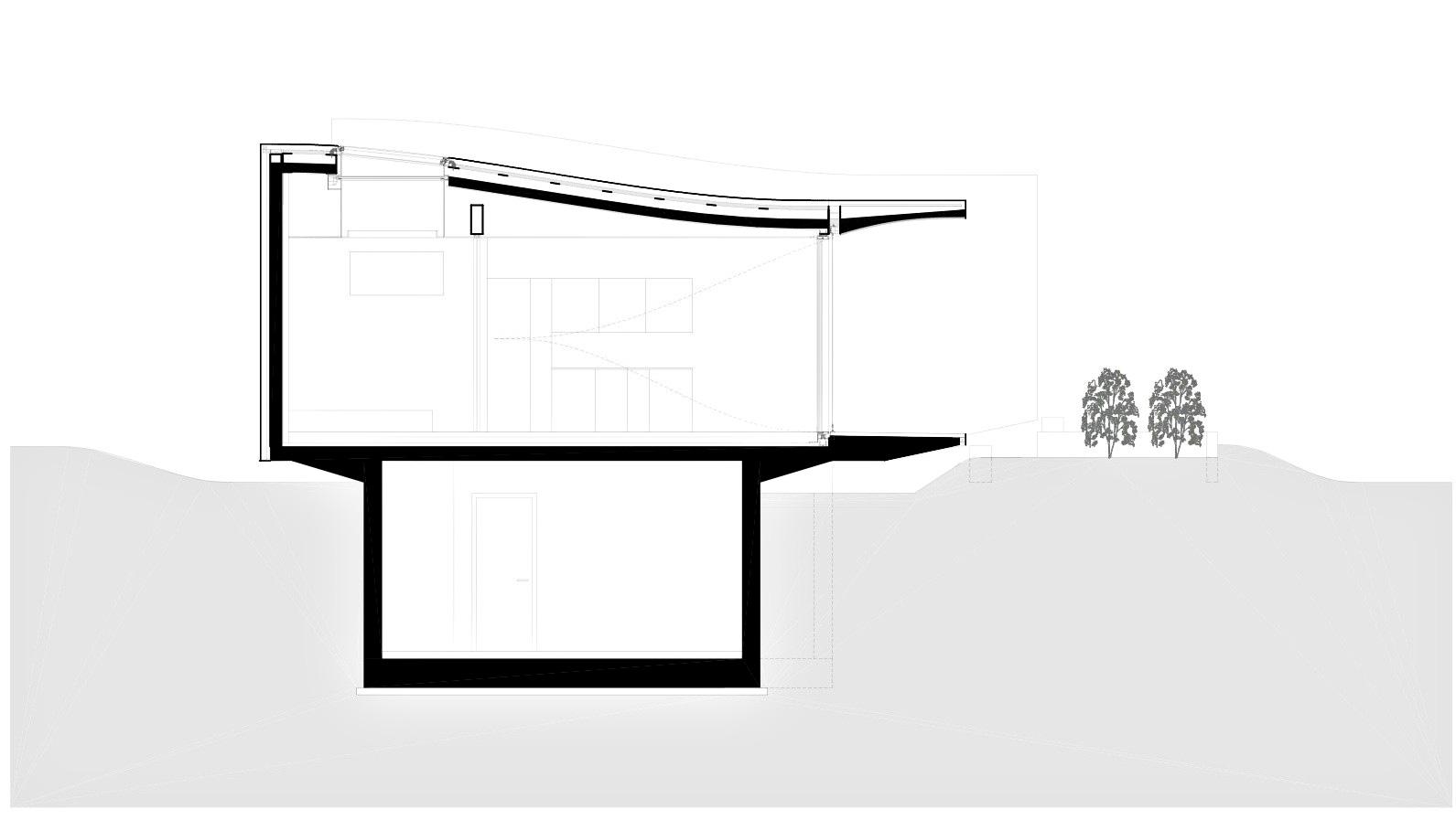 Section - Mirror Houses Luxury Residence - Bolzano, South Tyrol, Italy