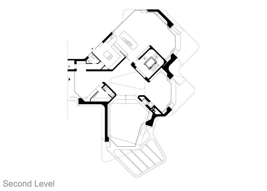 Second Level Floor Plan - Dupli Casa Luxury Residence - Ludwigsburg, Stuttgart, Germany