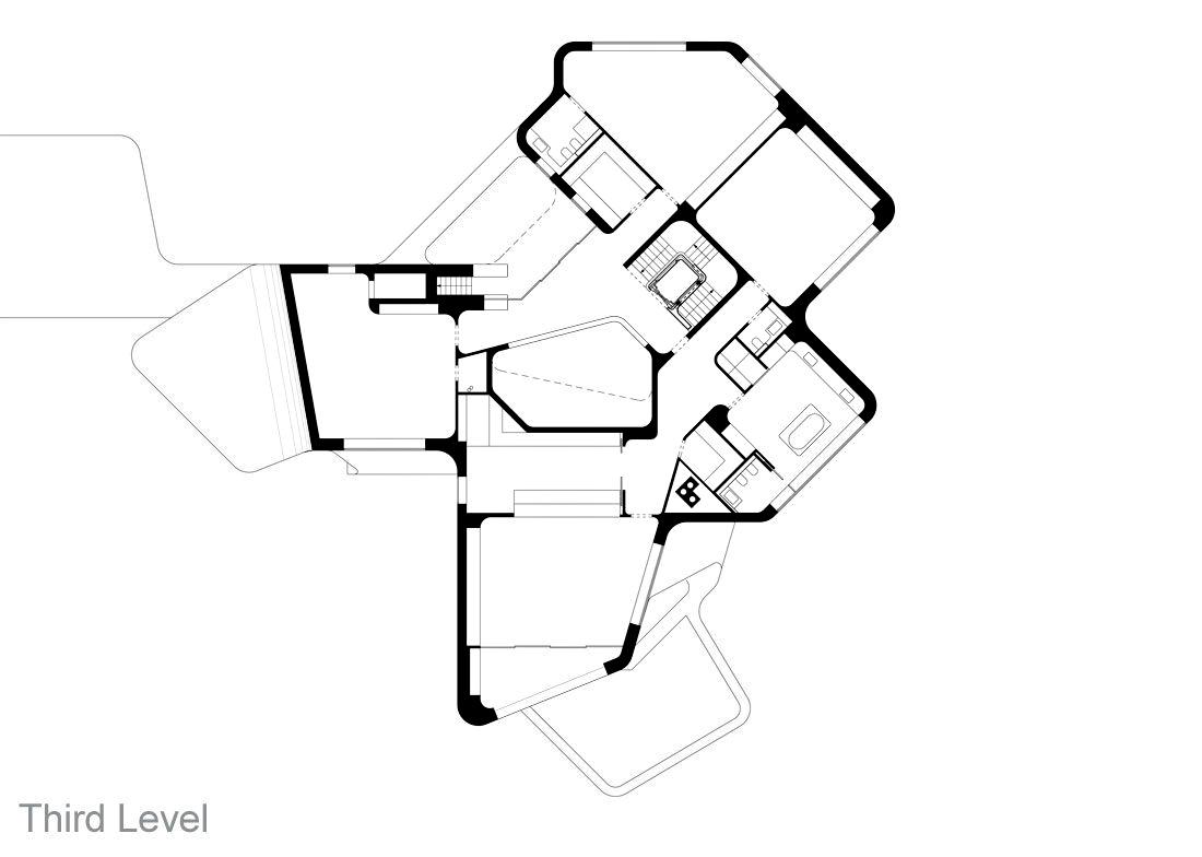 Third Level Floor Plan - Dupli Casa Luxury Residence - Ludwigsburg, Stuttgart, Germany
