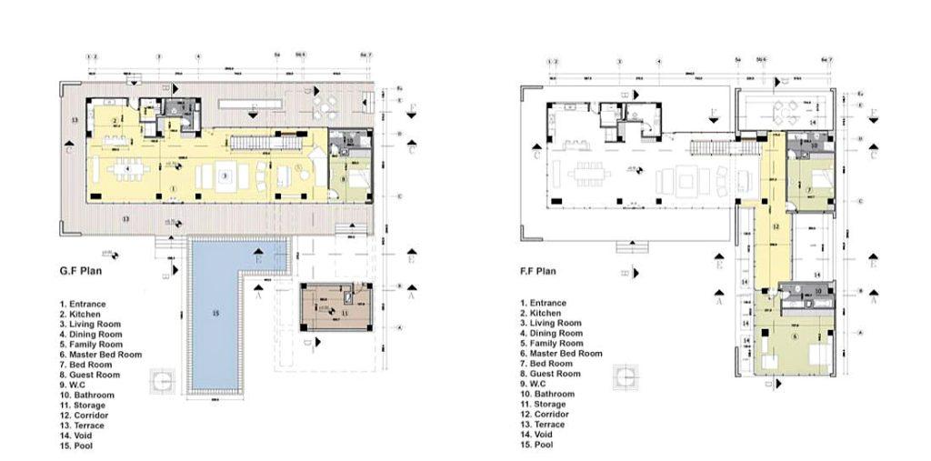 Floor Plans - Villa Kiani Luxury Residence - Mohammadshahr, Karaj, Alborz, Iran