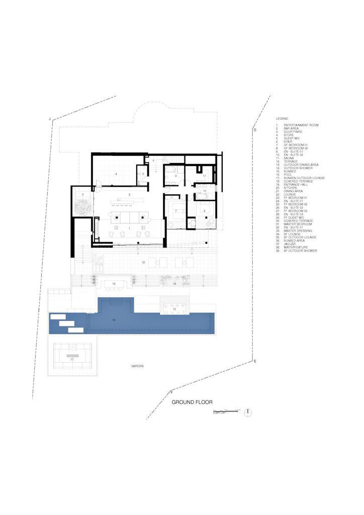 Floor Plans - Roca Llisa Luxury Estate - Ibiza, Balearic Islands, Spain