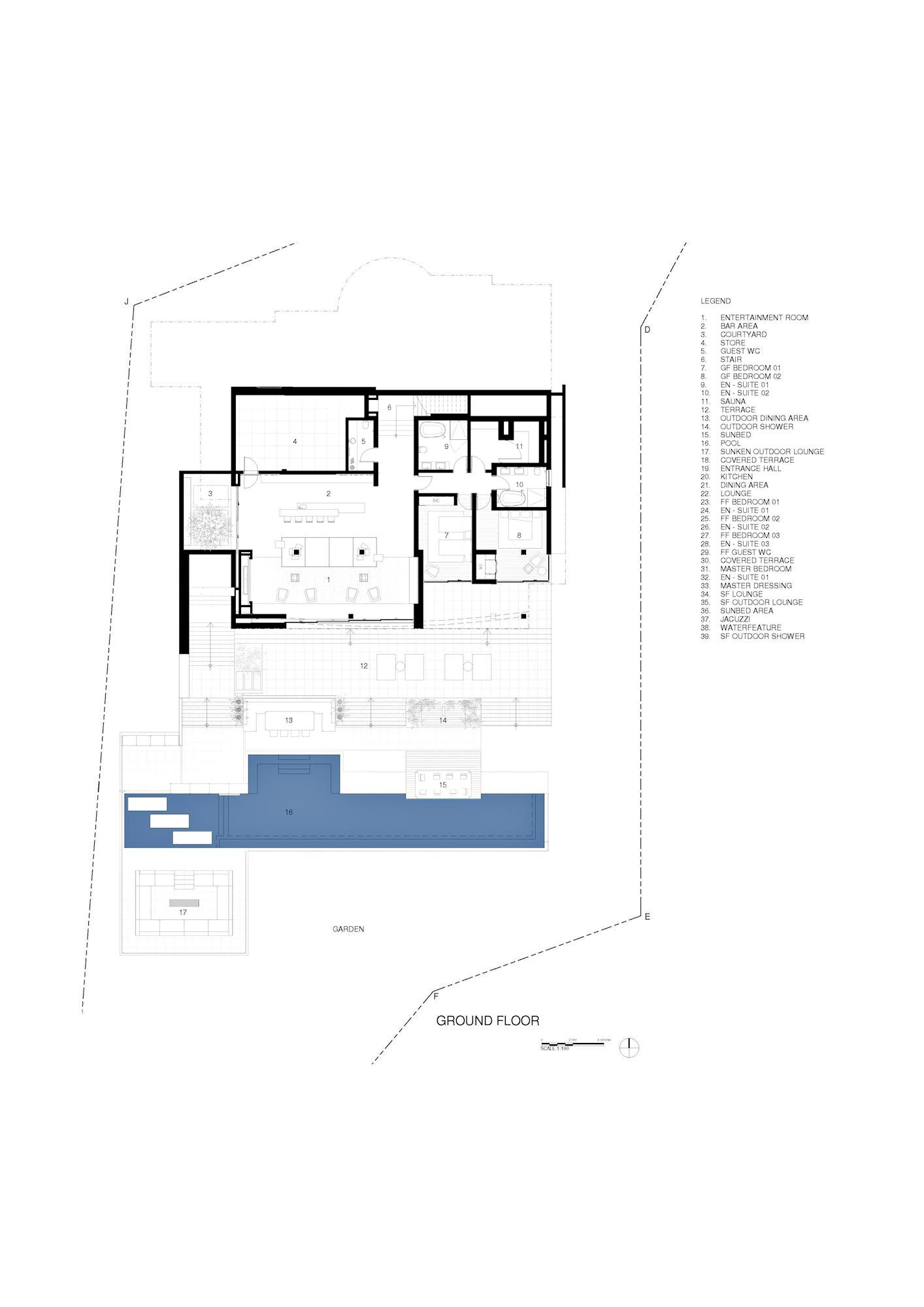 Floor Plans – Roca Llisa Luxury Estate – Ibiza, Balearic Islands, Spain