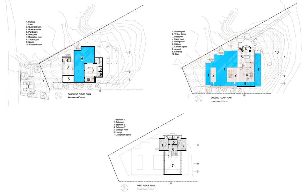Floor Plans - Spa House Luxury Villa - Hout Bay, Cape Town, South Africa