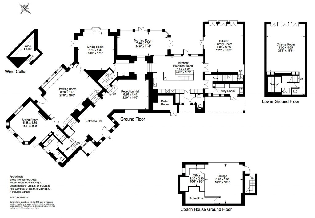 Floor Plans - John Lennon's Former Kenwood Home - Weybridge, Surrey, England, UK