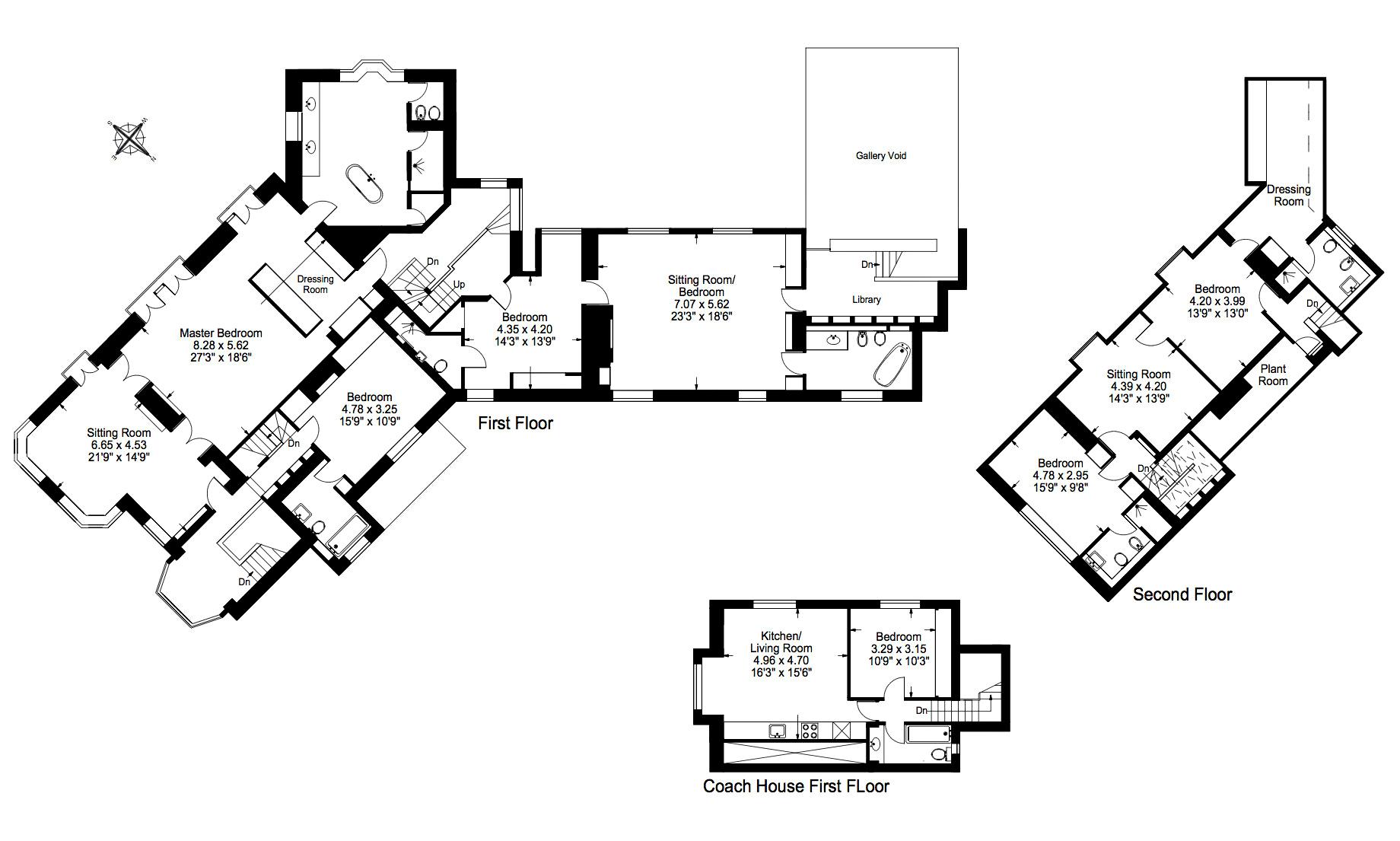 Floor Plans - John Lennon's Former Kenwood Home - Weybridge, Surrey, England, UK