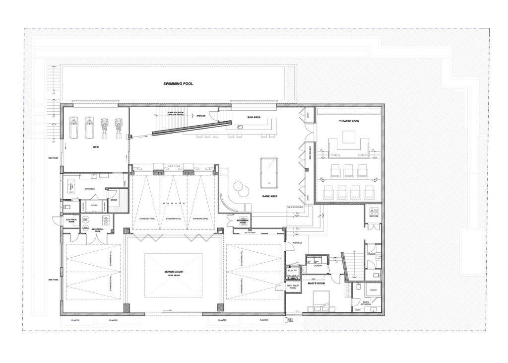 Floor Plans - Sunset Strip Modern - 1307 Sierra Alta Way, Los Angeles, CA, USA