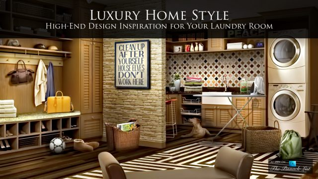 Luxury Home Style - High-End Design Inspiration for Your Laundry Room