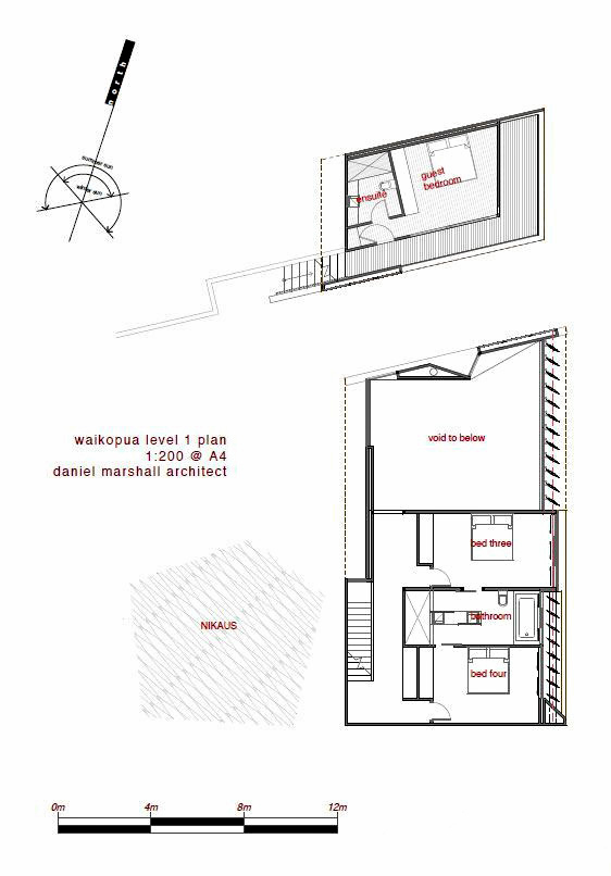Floor Plans - Waikopua House - Waiheke Island, Auckland, New Zealand