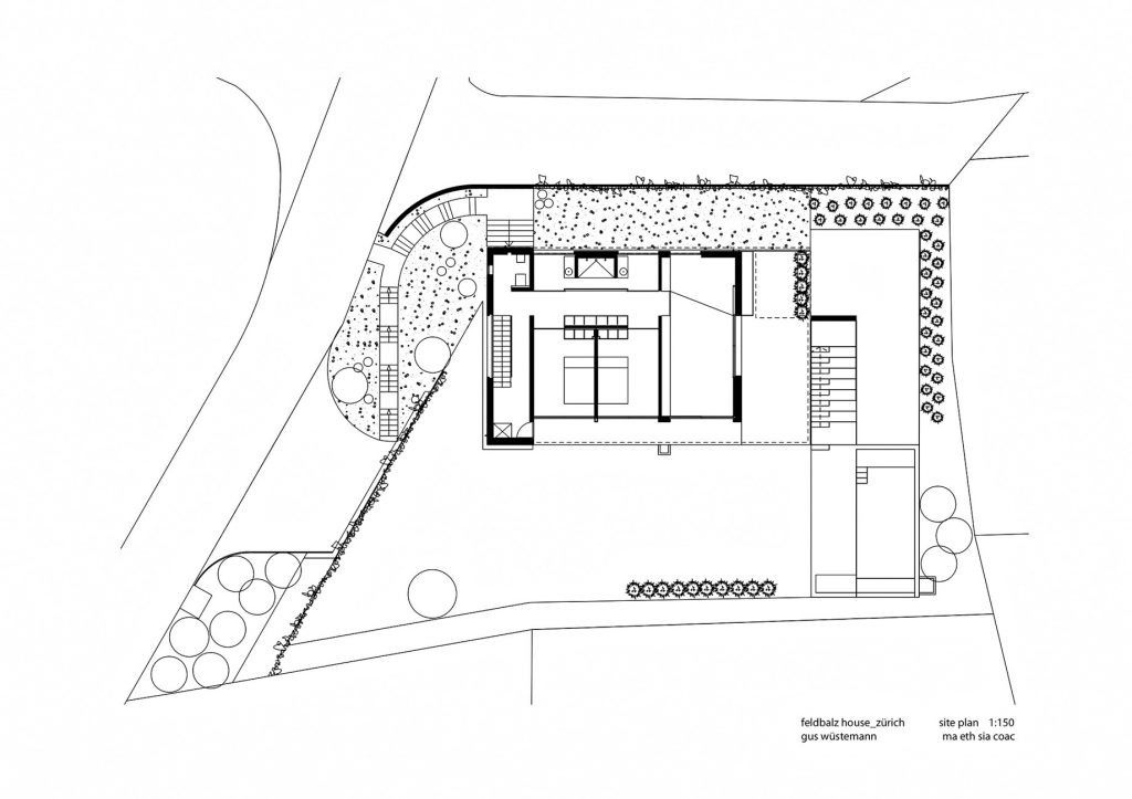 Site Plan - Feldbalz House Luxury Residence - Zürichsee, Zürich, Switzerland