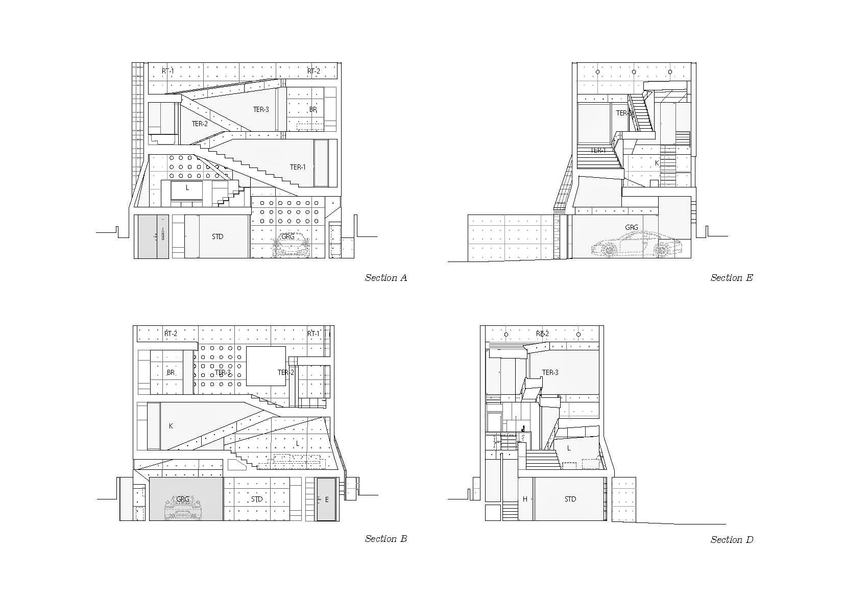 Sections - Tsudanuma House - Narashino, Chiba Prefecture, Japan