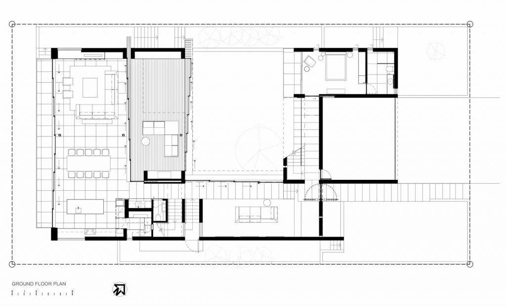 Ground Floor Plan - Pearl Bay Residence - Yzerfontein, Western Cape, South Africa