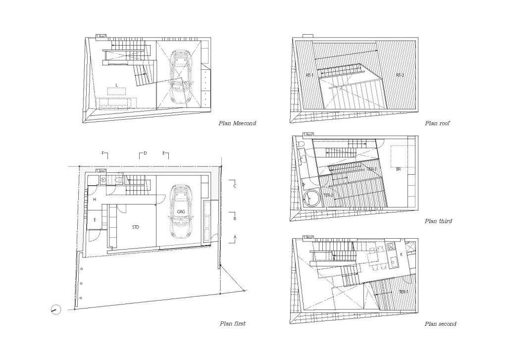 Floor Plans - Tsudanuma House - Narashino, Chiba Prefecture, Japan