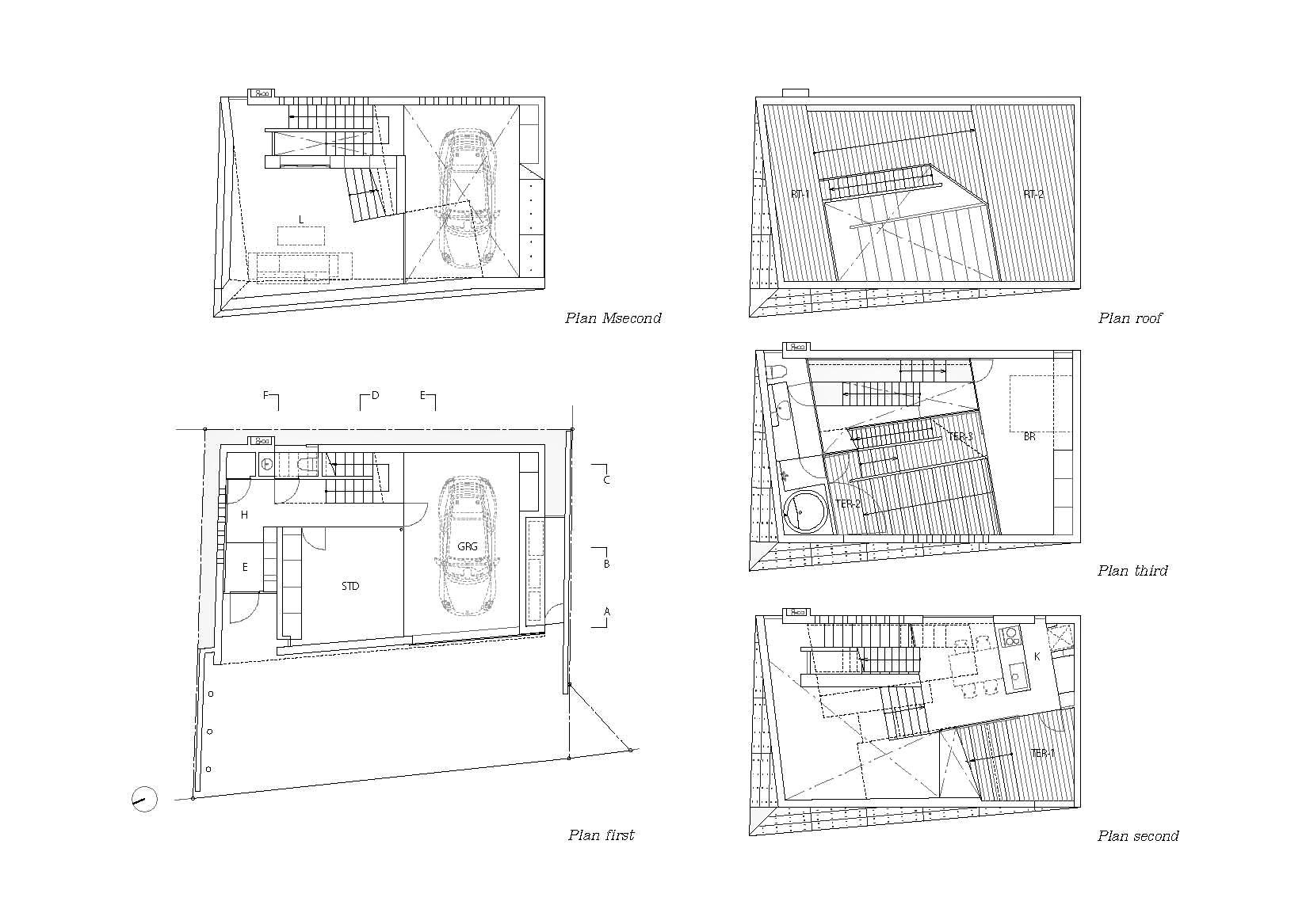 Floor Plans – Tsudanuma House – Narashino, Chiba Prefecture, Japan