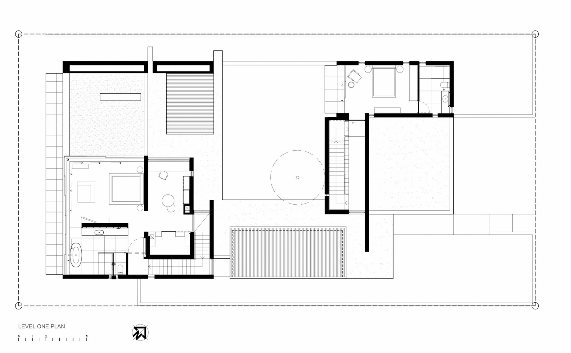 Level One Floor Plan - Pearl Bay Residence - Yzerfontein, Western Cape, South Africa