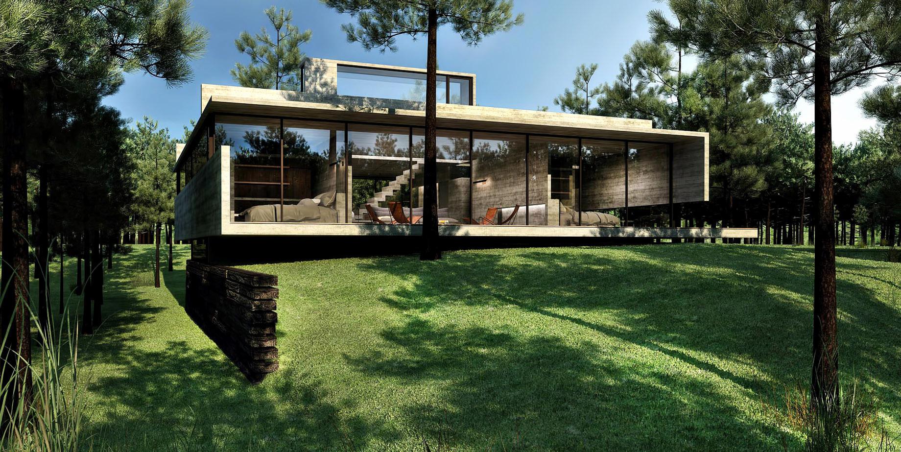 Renders – L4 House – Costa Esmeralda, Buenos Aires, Argentina