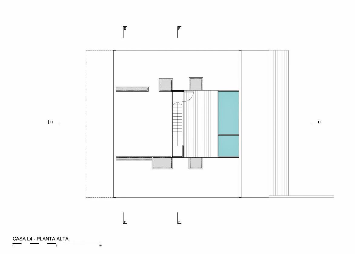 Top Floor Plan – L4 House – Costa Esmeralda, Buenos Aires, Argentina