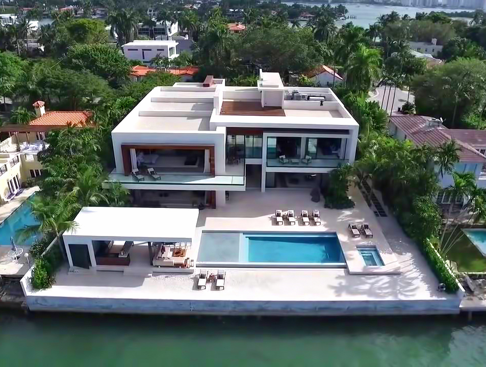 Aerial View - Casa Clara Residence - 212 W Dilido Dr, Miami Beach, FL, USA