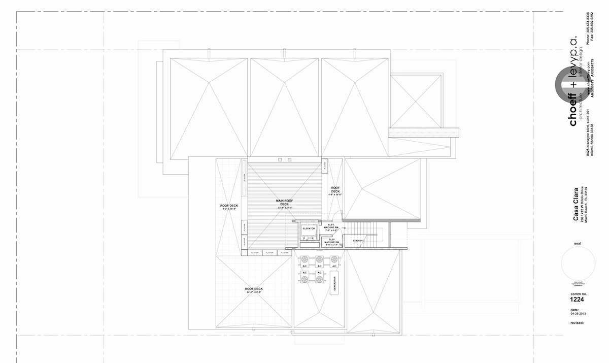 Floor Plans – Casa Clara Residence – 212 W Dilido Dr, Miami Beach, FL, USA