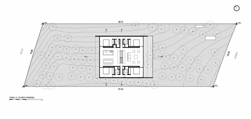 Site Plan - L4 House - Costa Esmeralda, Buenos Aires, Argentina