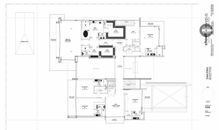 Floor Plans - Casa Clara Residence - 212 W Dilido Dr, Miami Beach, FL, USA
