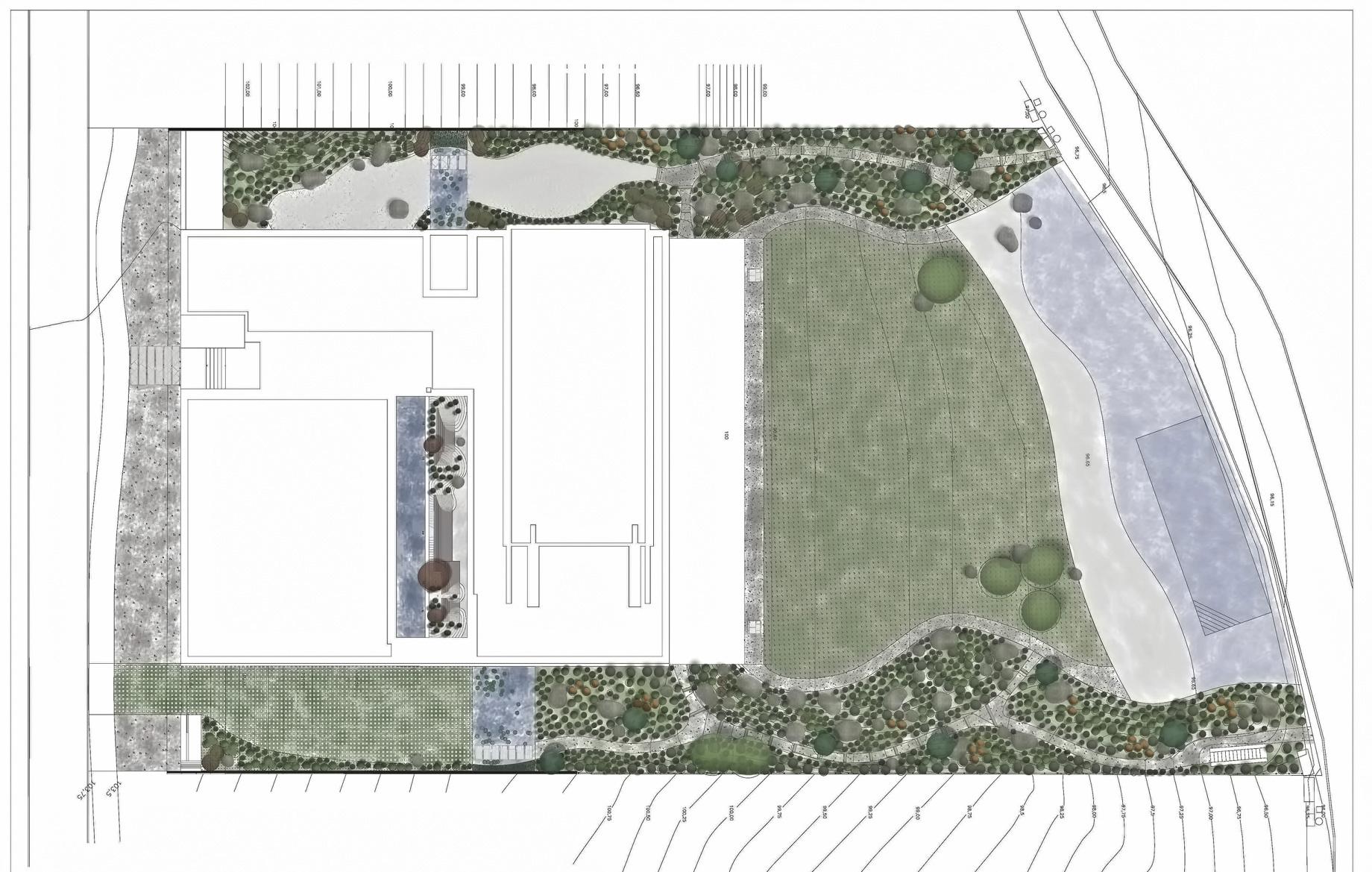 Site Plan - Vivienda en Somosaguas - Pozuelo de Alarcón, Madrid, Spain