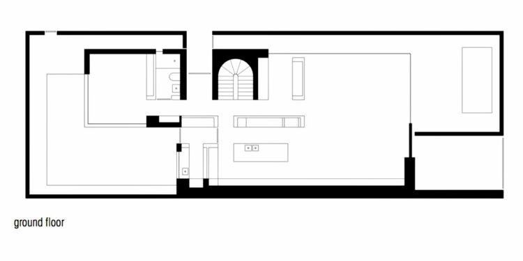 Ground Floor Plan - Cassell Street Residence - South Yarra, Melbourne, Australia