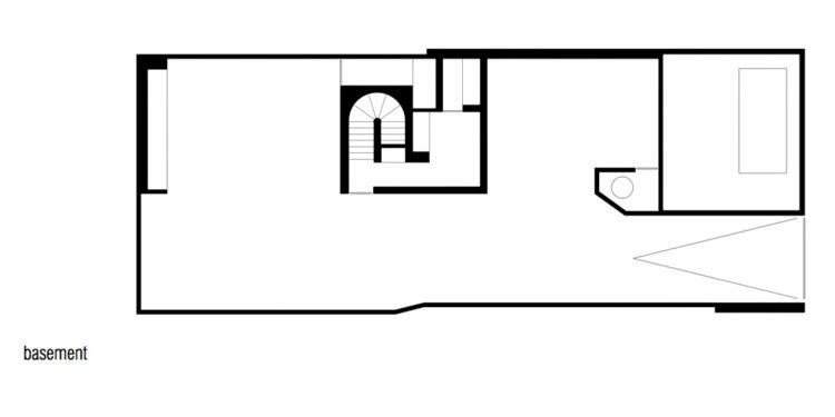 Basement Floor Plan - Cassell Street Residence - South Yarra, Melbourne, Australia