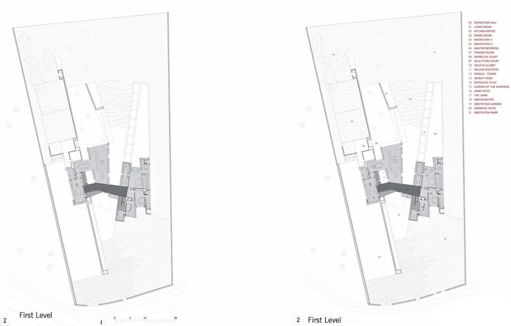 Floor Plans - House H Luxury Residence - Madrid, Spain