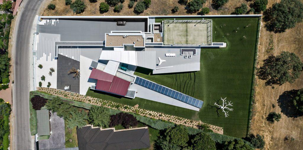 Aerial - House H Luxury Residence - Madrid, Spain