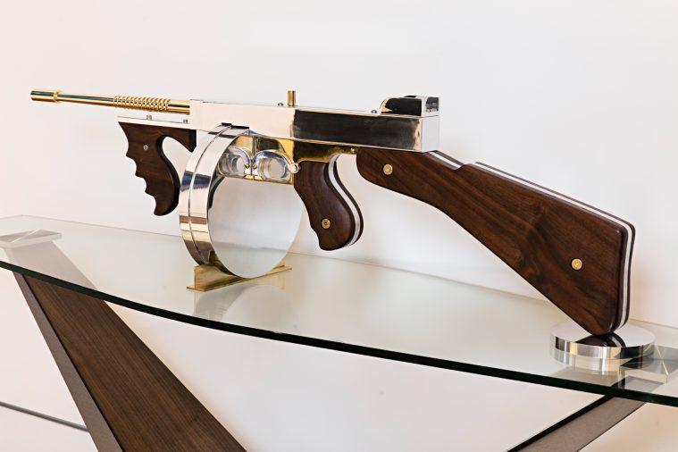 Gale Hart Chrome Gun Sculpture - 924 Bel Air Rd, Los Angeles, CA, USA
