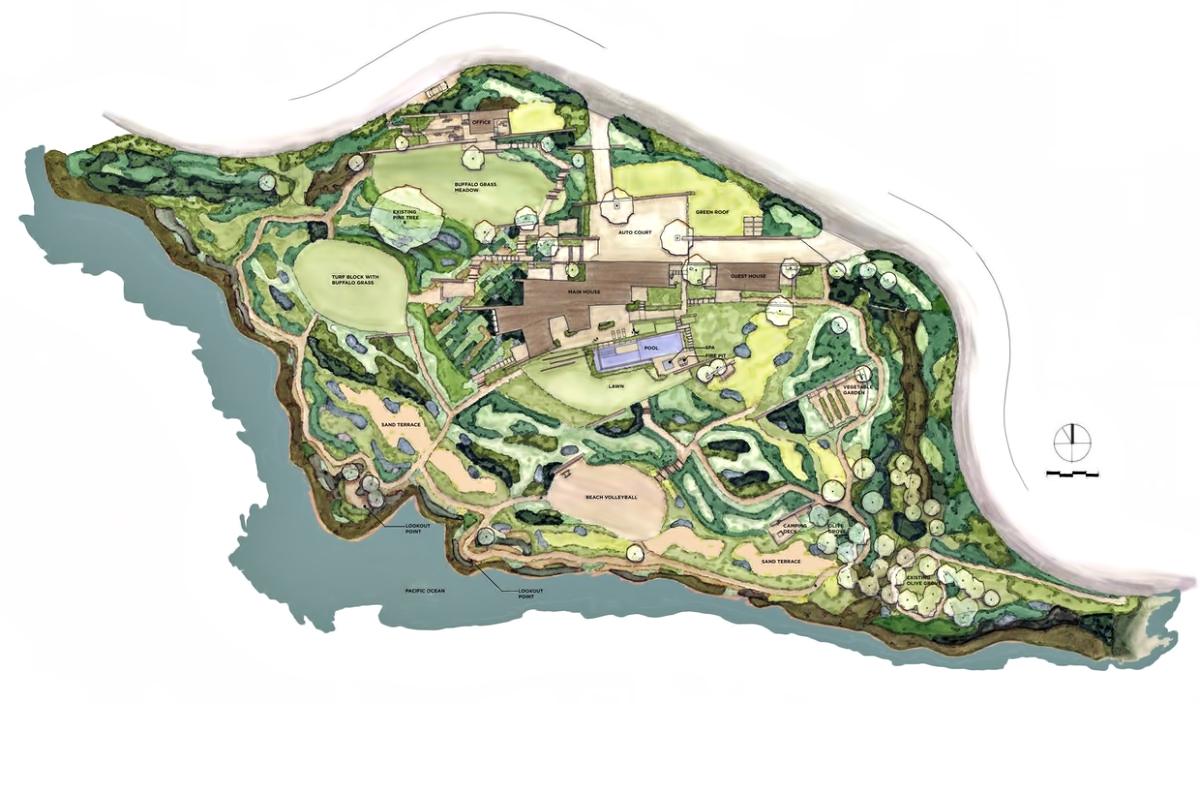 Site Plan – Altamira Residence – 3 Yacht Harbor Dr, Rancho Palos Verdes, CA, USA