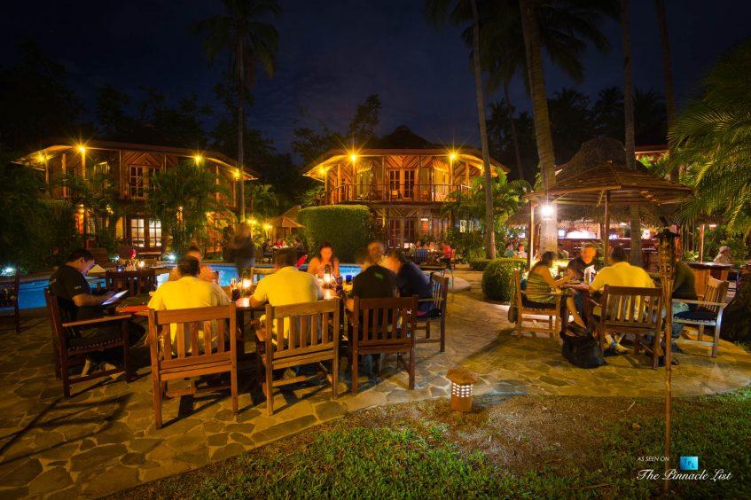 Tambor Tropical Beach Resort - Tambor, Puntarenas, Costa Rica - Restaurant Dining at Night