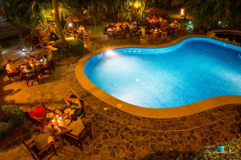 Tambor Tropical Beach Resort - Tambor, Puntarenas, Costa Rica - Poolside Restaurant Dining at Night