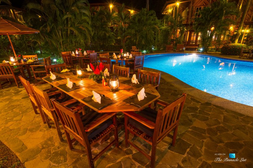 Tambor Tropical Beach Resort - Tambor, Puntarenas, Costa Rica - Poolside Restaurant at Night